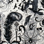Alexander Henry Fabrics - Halloween - After Dark in Natural