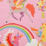 Alexander Henry Fabrics - Kids - Magic Rainbow Shine - Unicorns in Pink