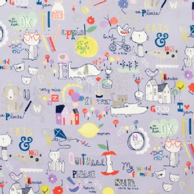 Alexander Henry Fabrics - Kids - My World of Smiles in Blue