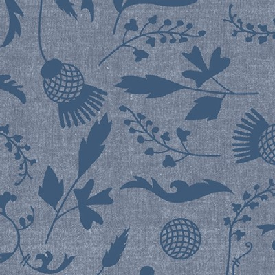 Andover - Ex Libris - Botany Chambray in Navy