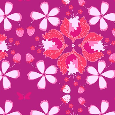 Andover - Hothouse Flowers - Lavish Floral in Fuchsia
