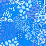 Andover - The Lovely Hunt - Flower Carpet in Blue