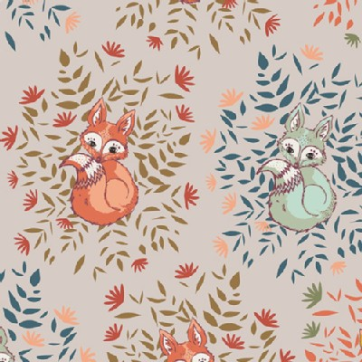 Art Gallery Fabrics - AGF Collection - Autumn Vibes - Foxes in Fall