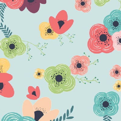 Art Gallery Fabrics - AGF Collection - Happy Home - Table Flowers in Rainbow