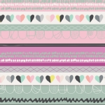 Art Gallery Fabrics - AGF Collection - Playing Pop - Clueless Hearts in Passion