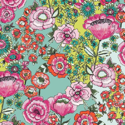 Art Gallery Fabrics - AGF Collection - Wild Bloom - Flower Shower in Intense