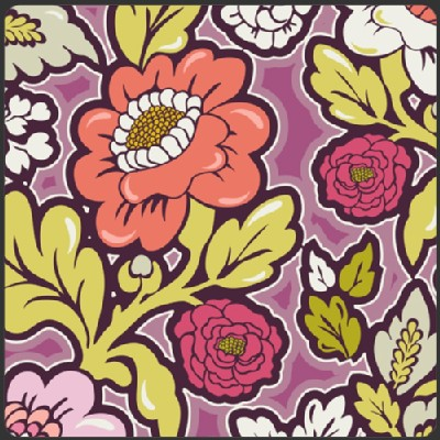 Art Gallery Fabrics - Bespoken - Floral Silhouettes in Lush