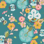 Art Gallery Fabrics - Emmy Grace - Floral Floats in Fresh