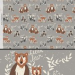 Art Gallery Fabrics - Hello Bear - Oh Hello in Fog