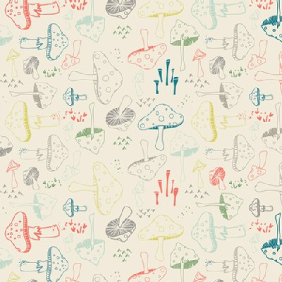Art Gallery Fabrics - Hello Bear - Morel Grove in Powder