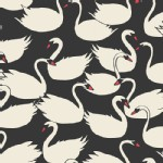 Art Gallery Fabrics - Hello Ollie - Swanling Bevy in Nightfall