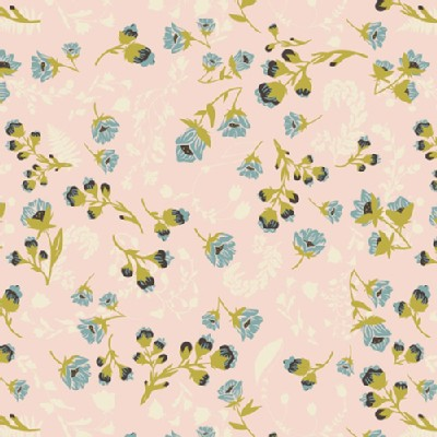 Art Gallery Fabrics - Knits - Flourish Aglow in Soft Pink