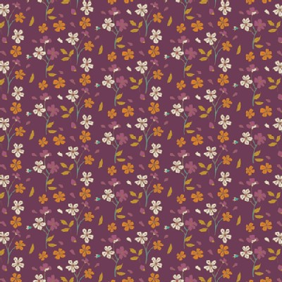 Art Gallery Fabrics - Knits - Autumn Vibes - Cozy Ditzy in Plum