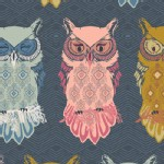 Art Gallery Fabrics - Nightfall - Bird of Night in Slate