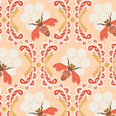 Art Gallery Fabrics - Sweet As Honey - Bee Sweet in Sunset