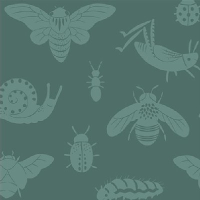 Birch Fabrics - Acorn Trail - Bugs Tonal in Blue