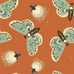Birch Fabrics - Fort Firefly - Fireflies in Coral