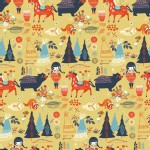 Birch Fabrics - Wildland - Knits - Village Feast in Sun