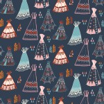 Birch Fabrics - Wildland - Knits - Teepees in Dusk
