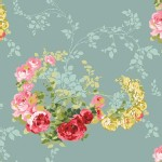 Blend Fabrics - Anna Griffin - Rose Vines in Blue