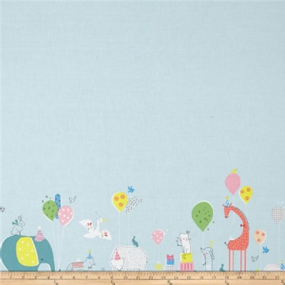 Blend Fabrics - Faraway Forest - Party Parade in Blue