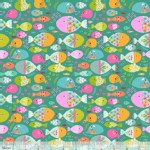Blend Fabrics - Go Fish - Swimming with the Fishes in Green