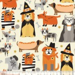 Blend Fabrics - Halloween - Boo Crew - Howling in Ivory