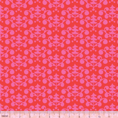 Blend Fabrics - Holiday - Even A Mouse - Tree Damask in Red