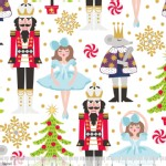 Blend Fabrics - Holiday - Snowflake Waltz in White