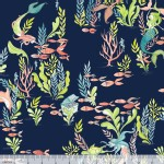 Blend Fabrics - Mermaid Days - At the Bottom of the Sea in Navy