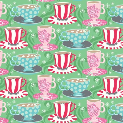 Blend Fabrics - Sugar Rush - Cups of Comfort in Green