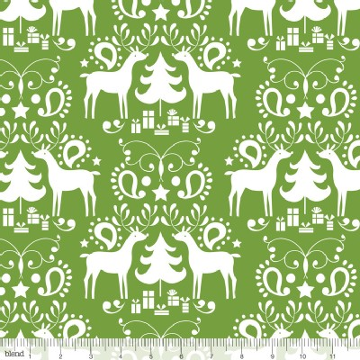 Blend Fabrics - Treelicious - Rudolph in Green
