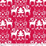 Blend Fabrics - Treelicious - Rudolph in Red
