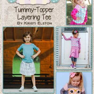 Burlap Button - Patterns - Tummy-Topper Layering Tee in PDF eFile