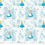 Camelot Fabrics - Alice In Wonderland - Golden Afternoon Tolile in Light Blue
