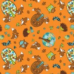 Camelot Fabrics - Frolicking Forest - Adventure in Orange