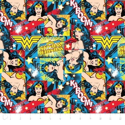 Camelot Fabrics - Girl Power 2 - Wonder Woman in Multi
