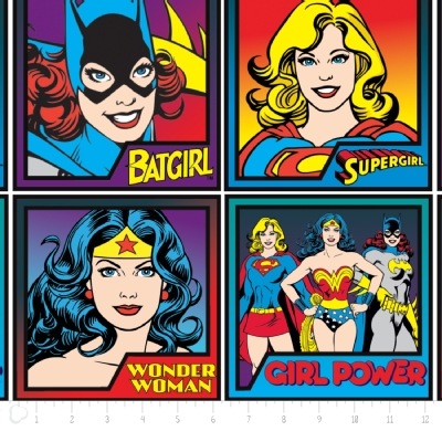 Camelot Fabrics - Girl Power 2 - Character Blocks in Multi