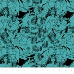 Camelot Fabrics - Girl Power 2 - Tonal in Teal