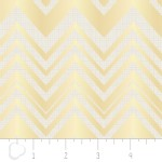 Camelot Fabrics - Heavy Metal - Chevron in Gold Metallic