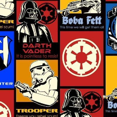 Camelot Fabrics - Star Wars - Recruitment Posters in Glows In the Dark