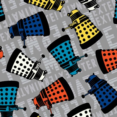 Character Prints - Dr Who - Dalek Toss in Gray Multi