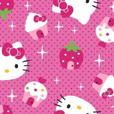 Character Prints - Hello Kitty - Hello Kitty Cupcake Toss in Pink