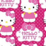 Character Prints - Hello Kitty - Hello Kitty Cupcake Logo in Pink