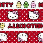 Character Prints - Hello Kitty - Gingerbread Stripe in Red