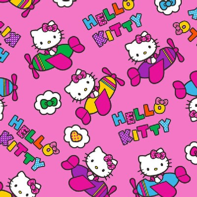 Character Prints - Hello Kitty - Airplane Toss in Pink