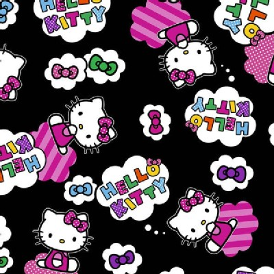 Character Prints - Hello Kitty - Cloud Toss in Black