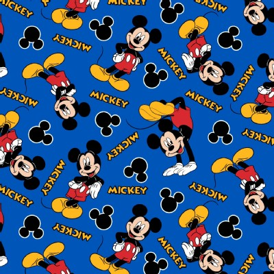Character Prints - Mickey - Mickey 28 in Blue