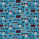 Character Prints - Mickey - Mickey Minnie Icons in Blue