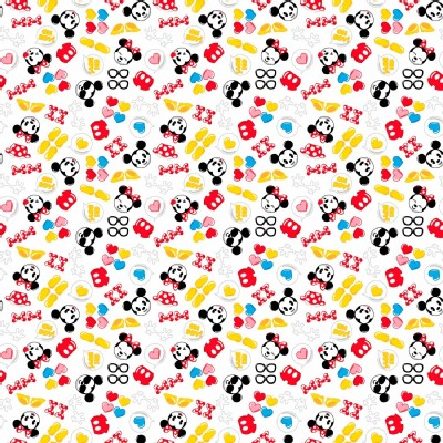 Character Prints - Mickey - Mickey Minnie Emojiland in White